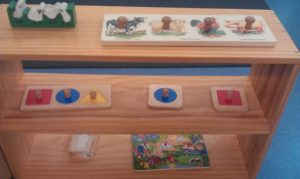 Montessori inspired ideas for infant/toddler playgroup.