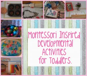DIY Montessori Inspired Activities for Toddlers.
