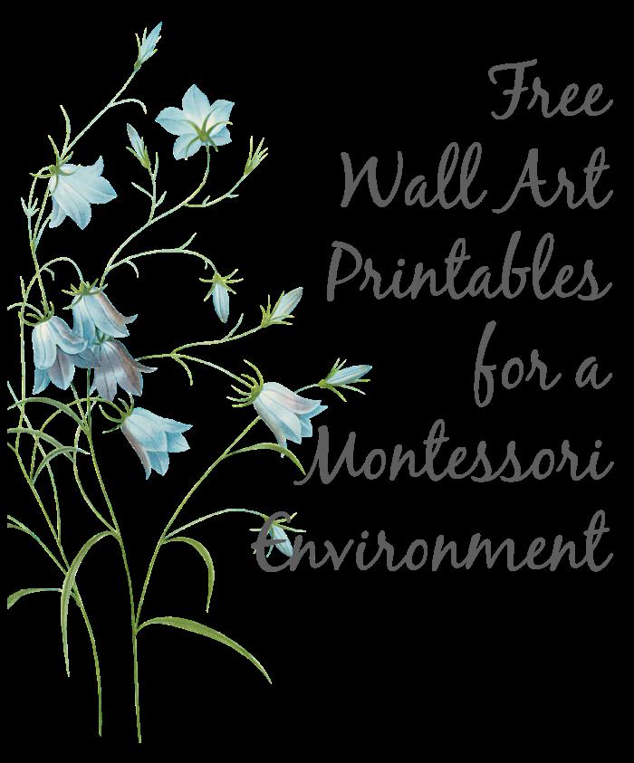Free Wall Art Printables For A Montessori Environment