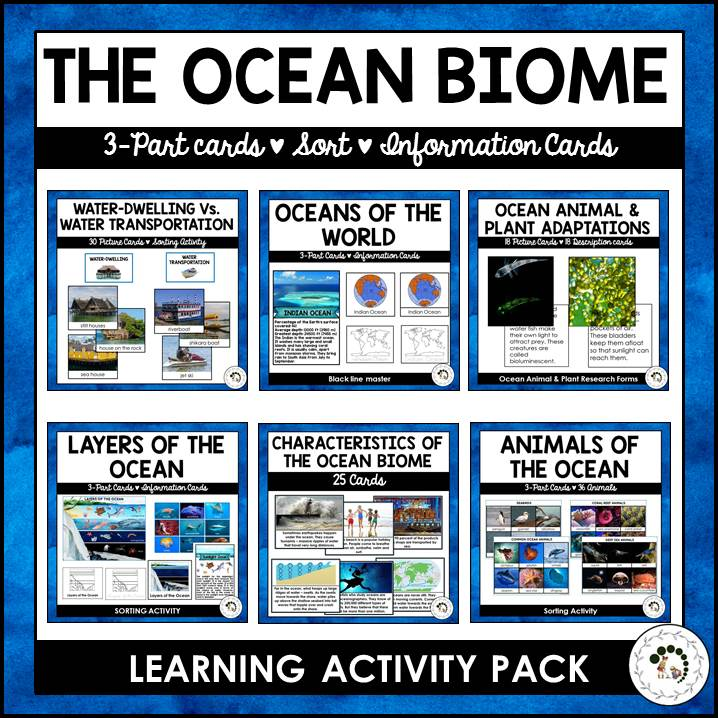purchase the ocean biome printable