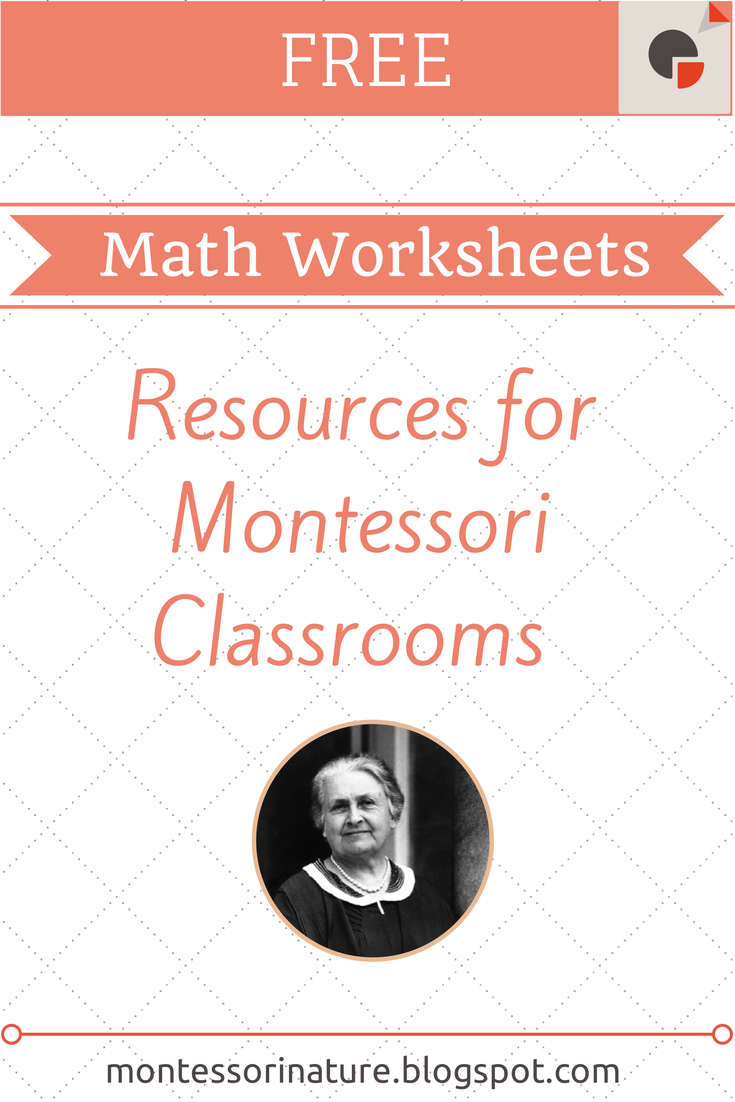 Worksheets Montessori Math Worksheets free montessori math worksheets nature worksheets