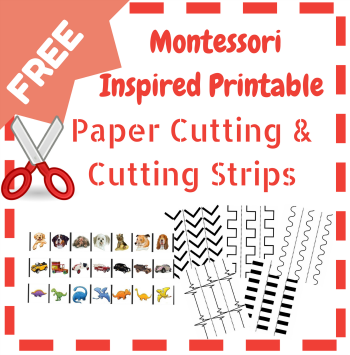 math worksheet : free paper cutting printables  resources for the montessori  : Montessori Worksheets For Kindergarten