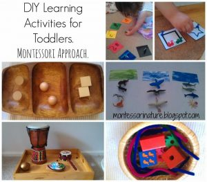 DIY Learning Activities for Toddlers. Montessori Approach.
