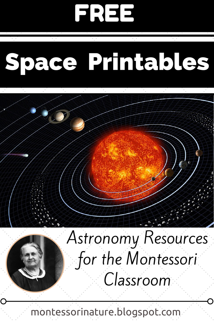 Free Space Printables || Astronomy Resources for the Montessori ...