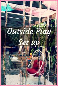 Outside Play Set Up on a Budget.