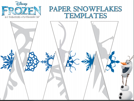photo about Snowflakes Template Printable titled SNOWFLAKE CRAFTS FOR Little ones AND Totally free PRINTABLE Slash OUTS