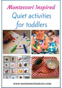 Montessori Inspired Quiet Activities for Toddlers.