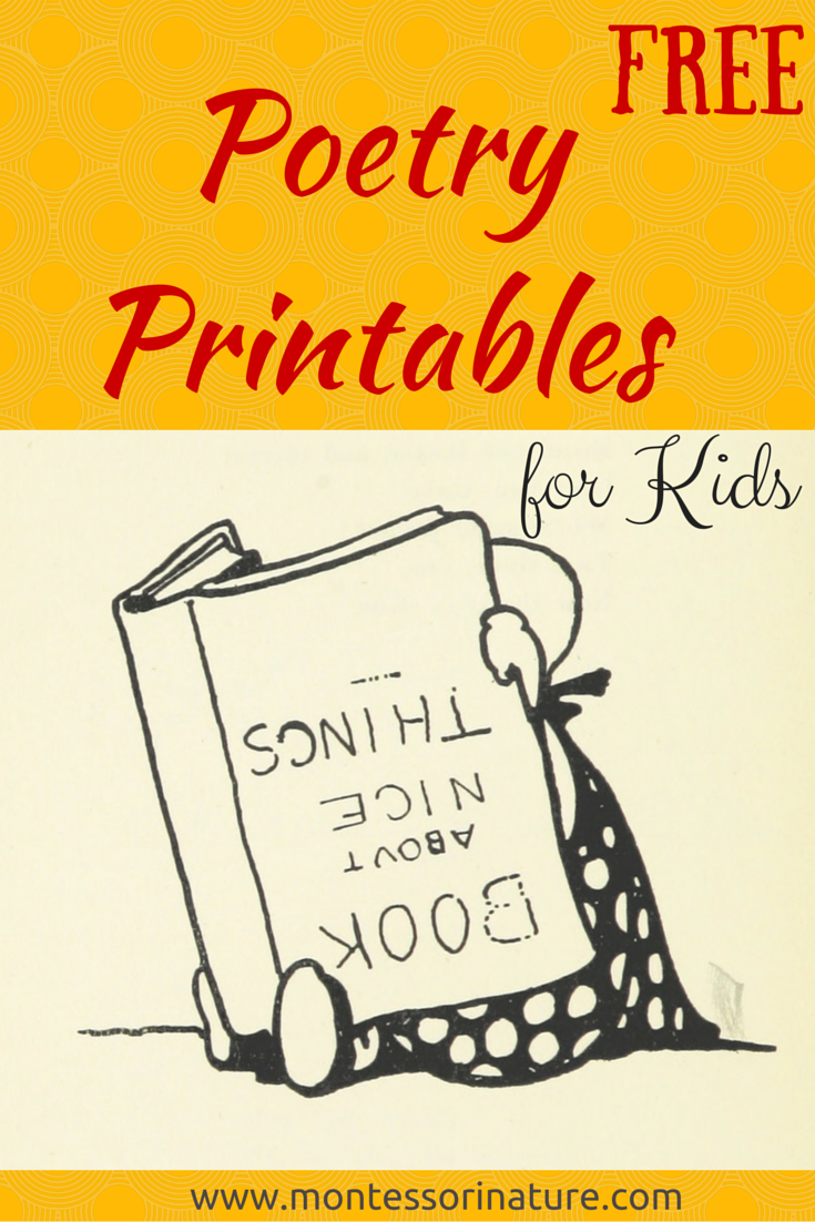 Free Poetry Printable Cards For Kids Montessori Nature