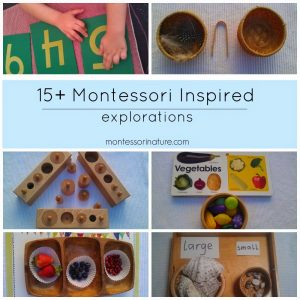 15+ Montessori Inspired Explorations for Three Year Olds