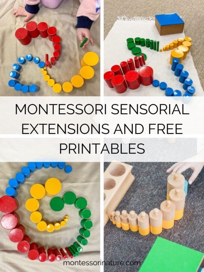 MONTESSORI SENSORIAL EXTENSIONS AND FREE PRINTABLES