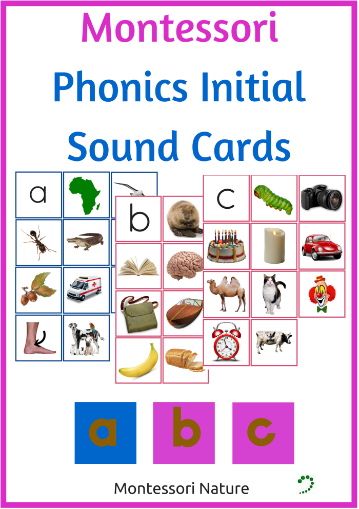 MONTESSORI PHONICS INITIAL SOUND CARDS - Montessori Nature