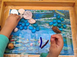 PROCESS ART FOR KIDS INSPIRED BY CLAUDE MONET