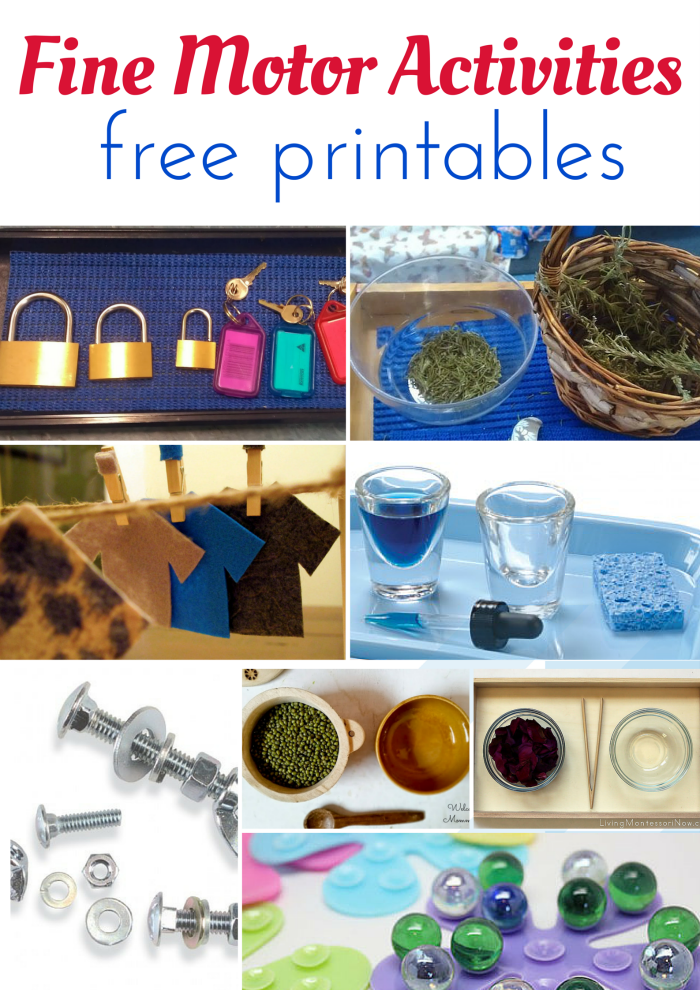 montessori fine motor activities and free printables