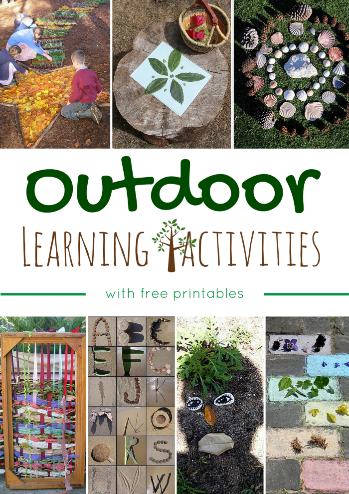 outdoor learning activities with free printables montessori nature. Black Bedroom Furniture Sets. Home Design Ideas