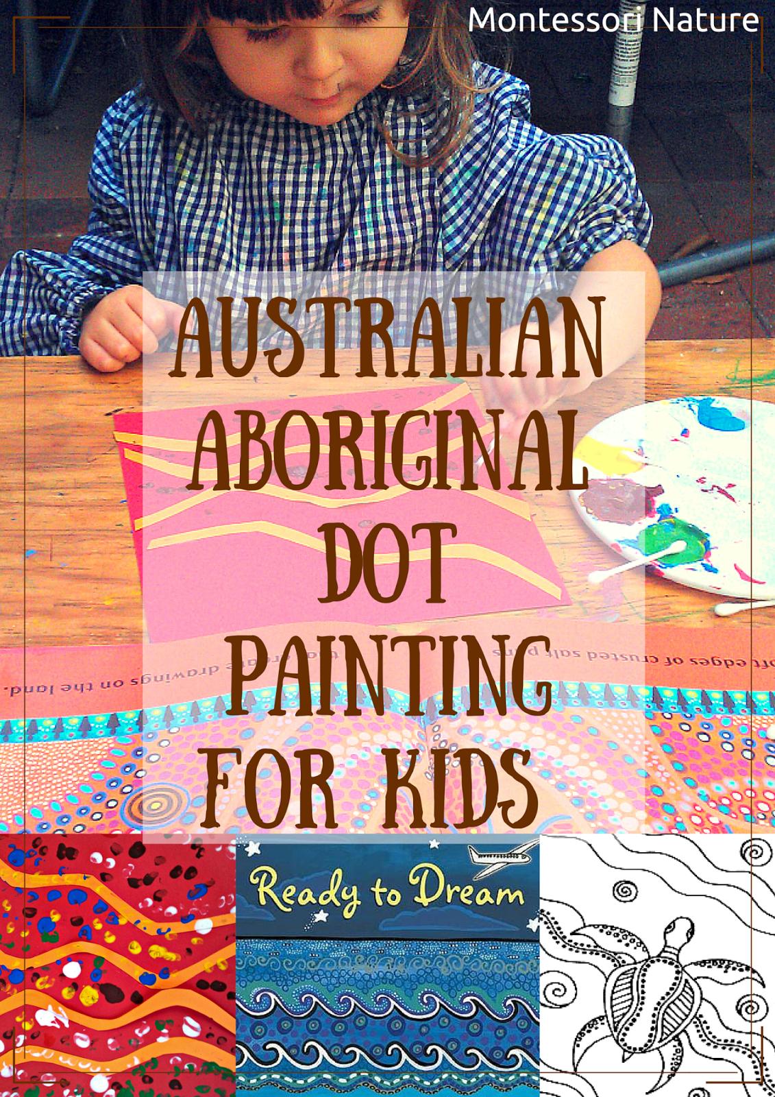 Australian Aboriginal Dot Painting For Kids And Art