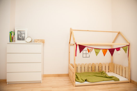 montessori bed sweet home from wood