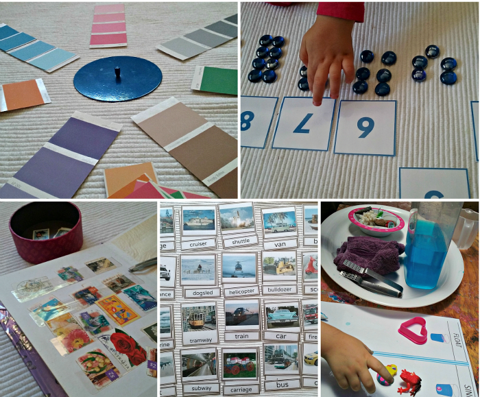 diy montessori inspired activities and games for 3 - 5 year olds