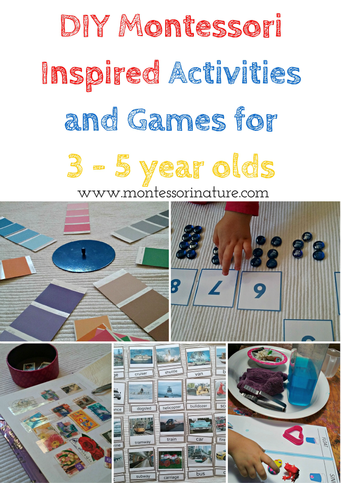 DIY Montessori Inspired Activities and Games for 3 - 5 year olds ...