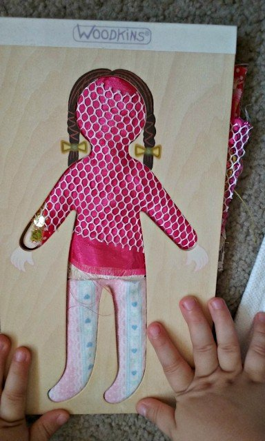 Making outfits using fabrics