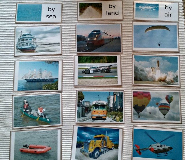 Sorting transport by air, land and sea