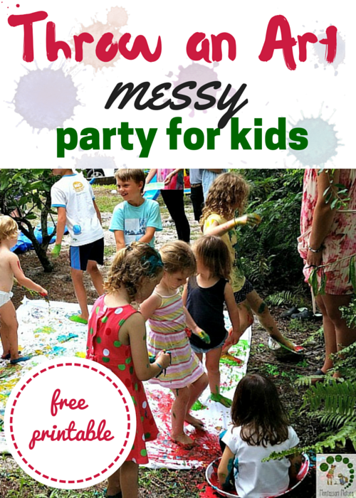 Throw an Art {Messy} Party for Kids