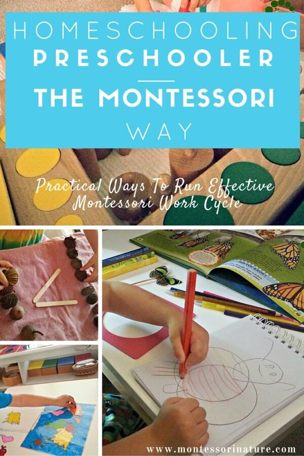 Practical Ways To Organise Effective Montessori Work Cycle | Homeschooling Preschool | Learning Activities | Montessori At home