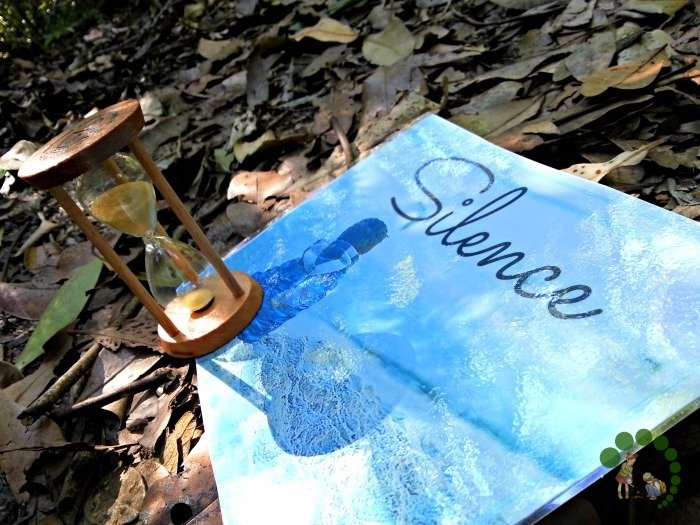 The Silence Game In Nature Montessori Nature Blog Montessori Outdoor Explorations