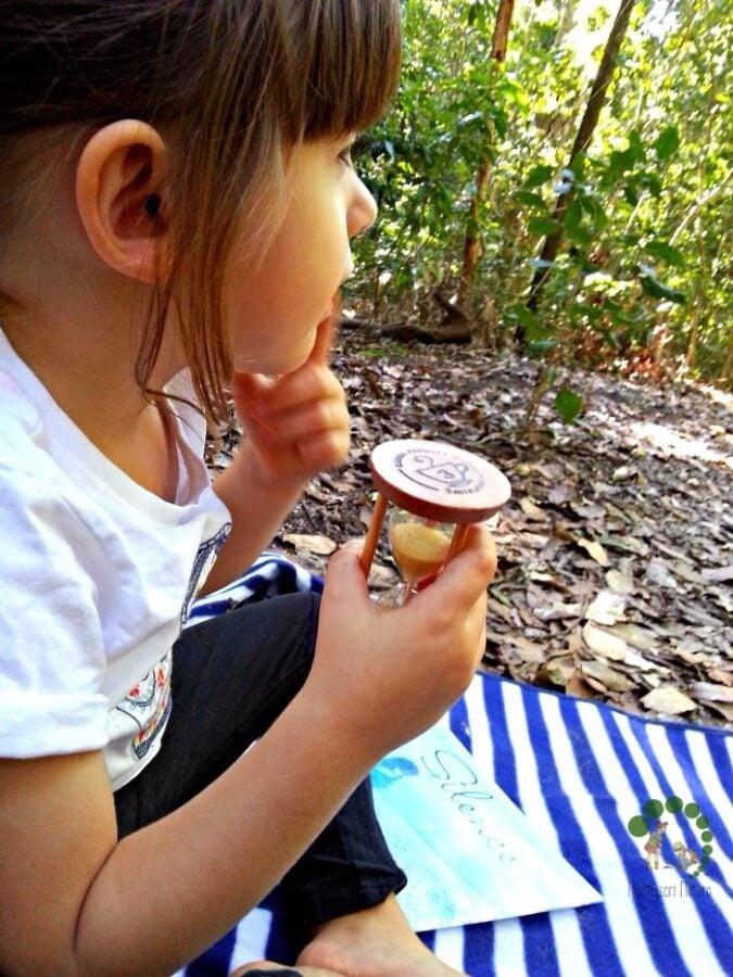 The Silence Game In Nature Montessori Outdoor Explorations Montessori Nature Blog