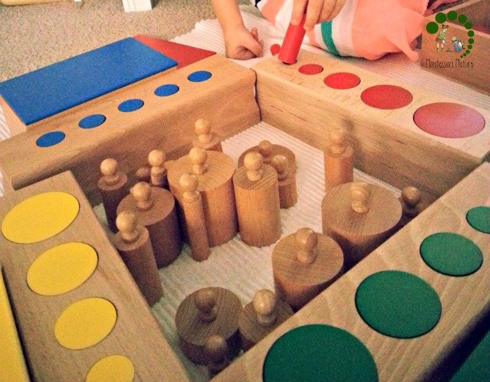 cylinder blocks and knobless cylinders activity montessori preschool