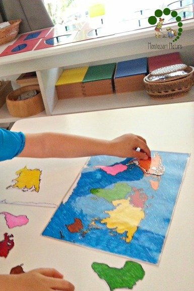 learning about continents montessori preschool