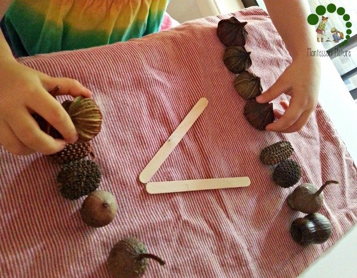 more or less math with Montessori natural loose parts Practical Ways To Organise Effective Montessori Work Cycle | Homeschooling Preschool | Learning Activities | Montessori At home
