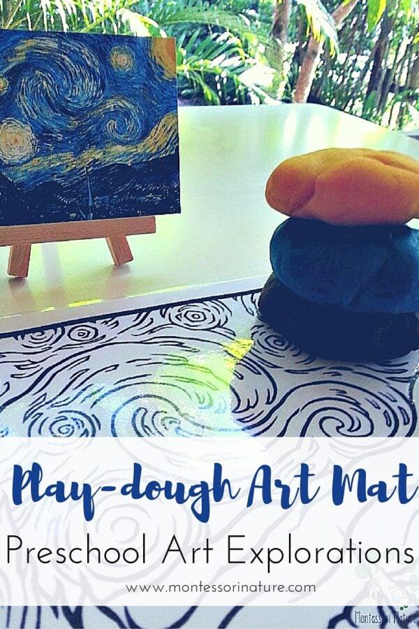 Playdough Art Mat - Preschool Art Explorations.