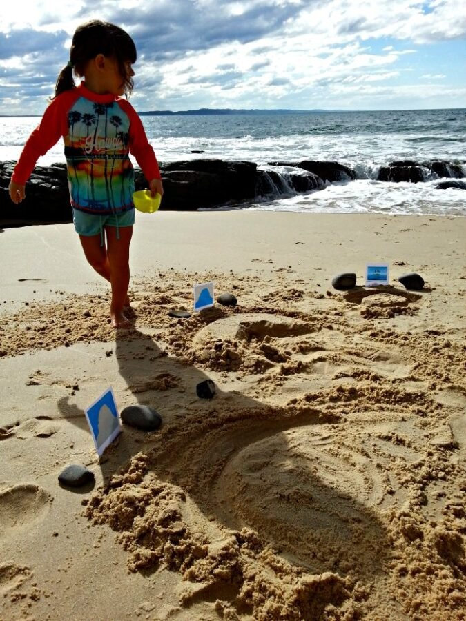 DIY Land and Water Forms Explorations On the Beach Montessori Nature