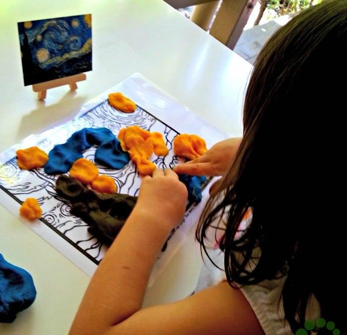 playdough activity with visual arts Montessori Nature Printable