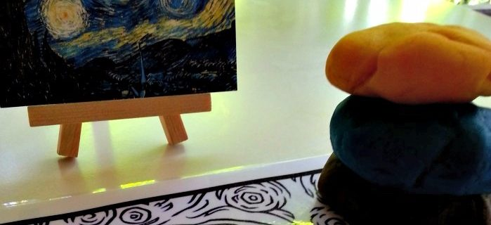Play-dough Art Mat – Preschool Art Explorations.