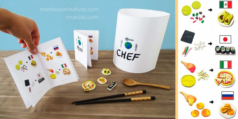 International Kid Chef – Culinary Montessori Activity with Dough