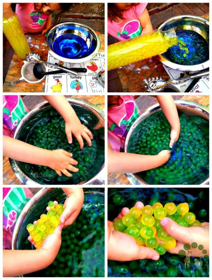 Water Beads Colour Experiment Montessori Nature
