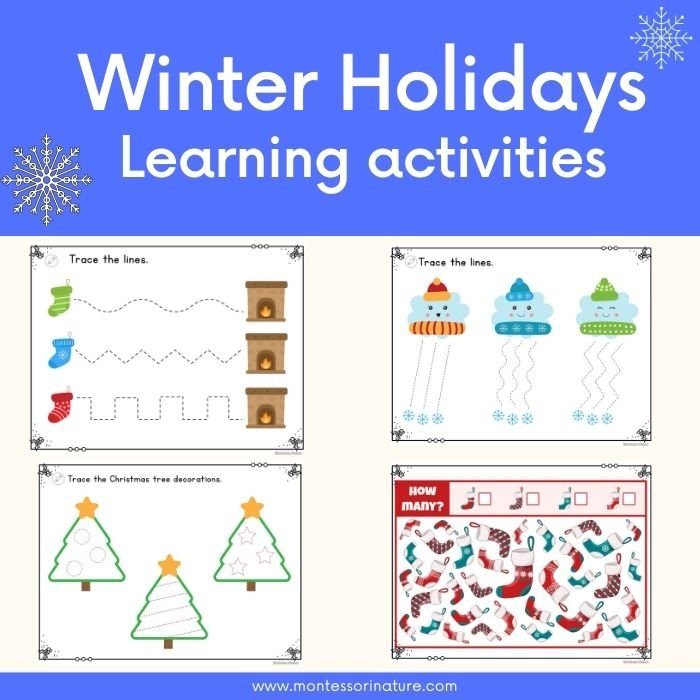 Winter holidays learning activities