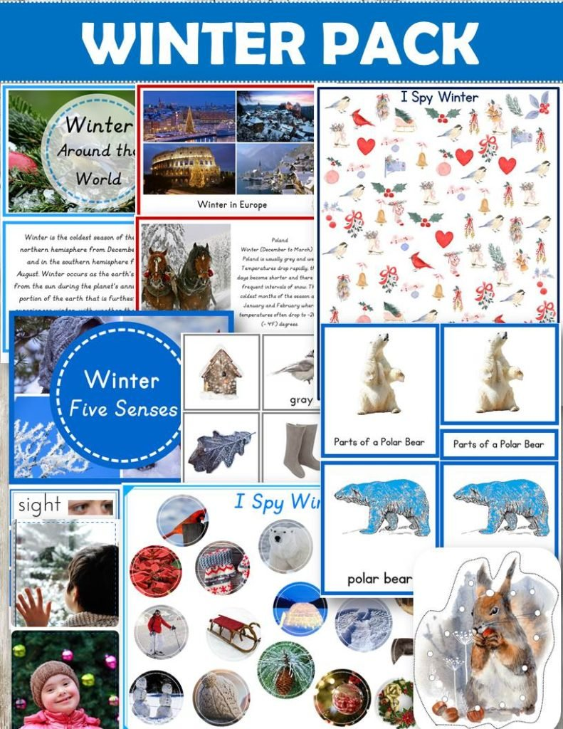 Buy Winter Pack for the Montessori Classroom