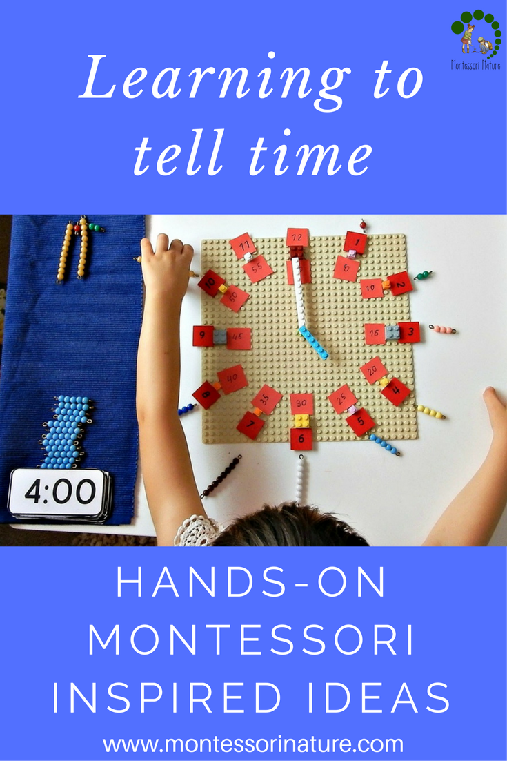 Learning To tell Time Montessori Nature