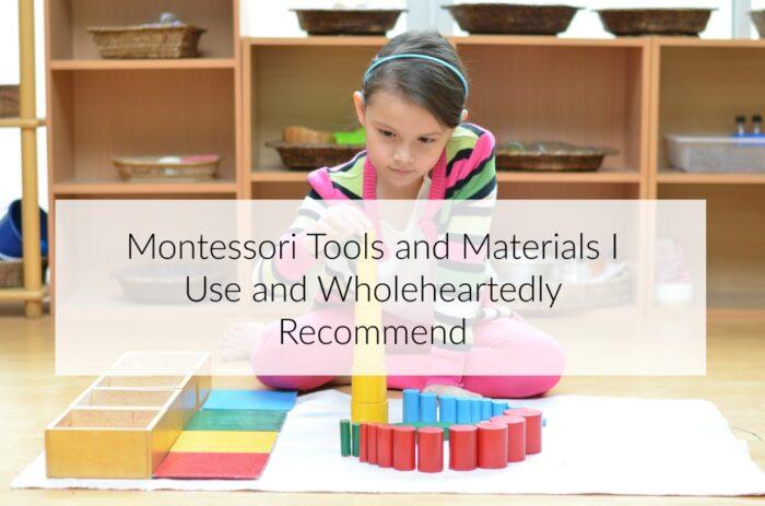 Montessori Materials Recommendations