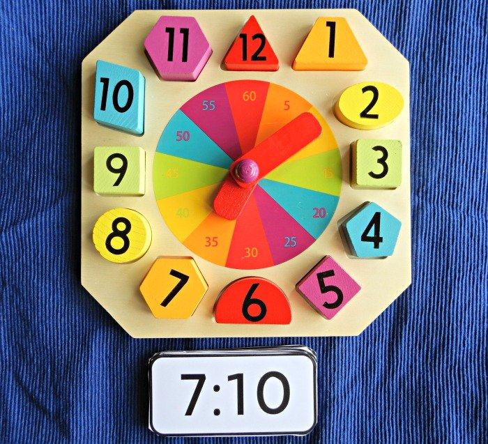 telling time with play clock Montessori Nature blog