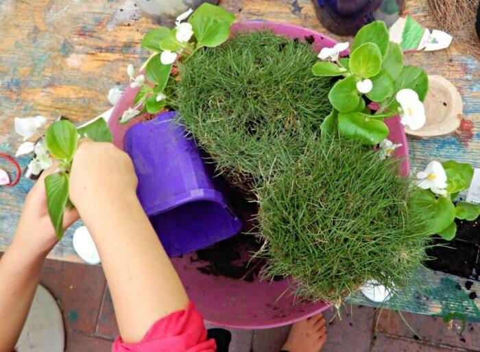 Easter Garden Montessori Nature Hands on activity