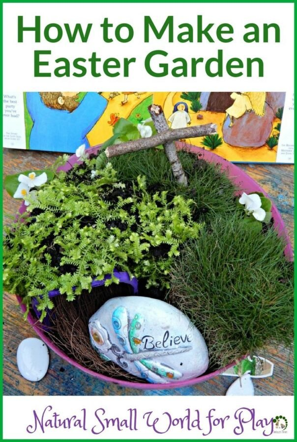 How to Make Easter Garden Natural Small World For Play