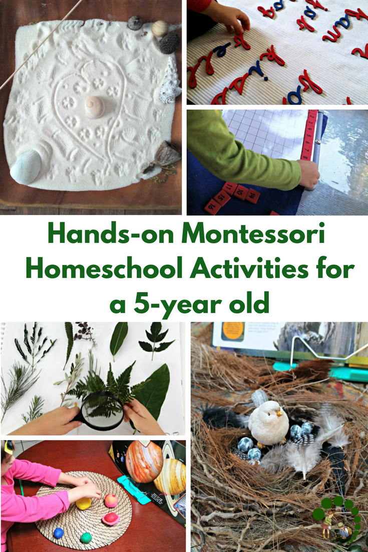 Hands-on Montessori Inspired Activities for a 5-year Old.