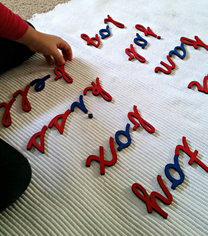 language moveable alphabet activity