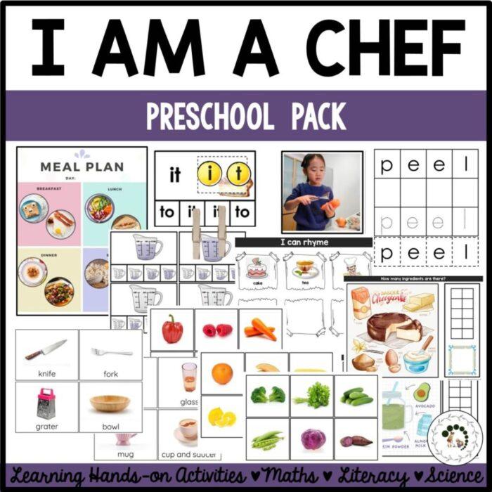 buy I am a chef preschool pack