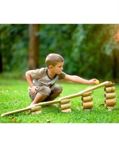 Bamboo roll for children's play