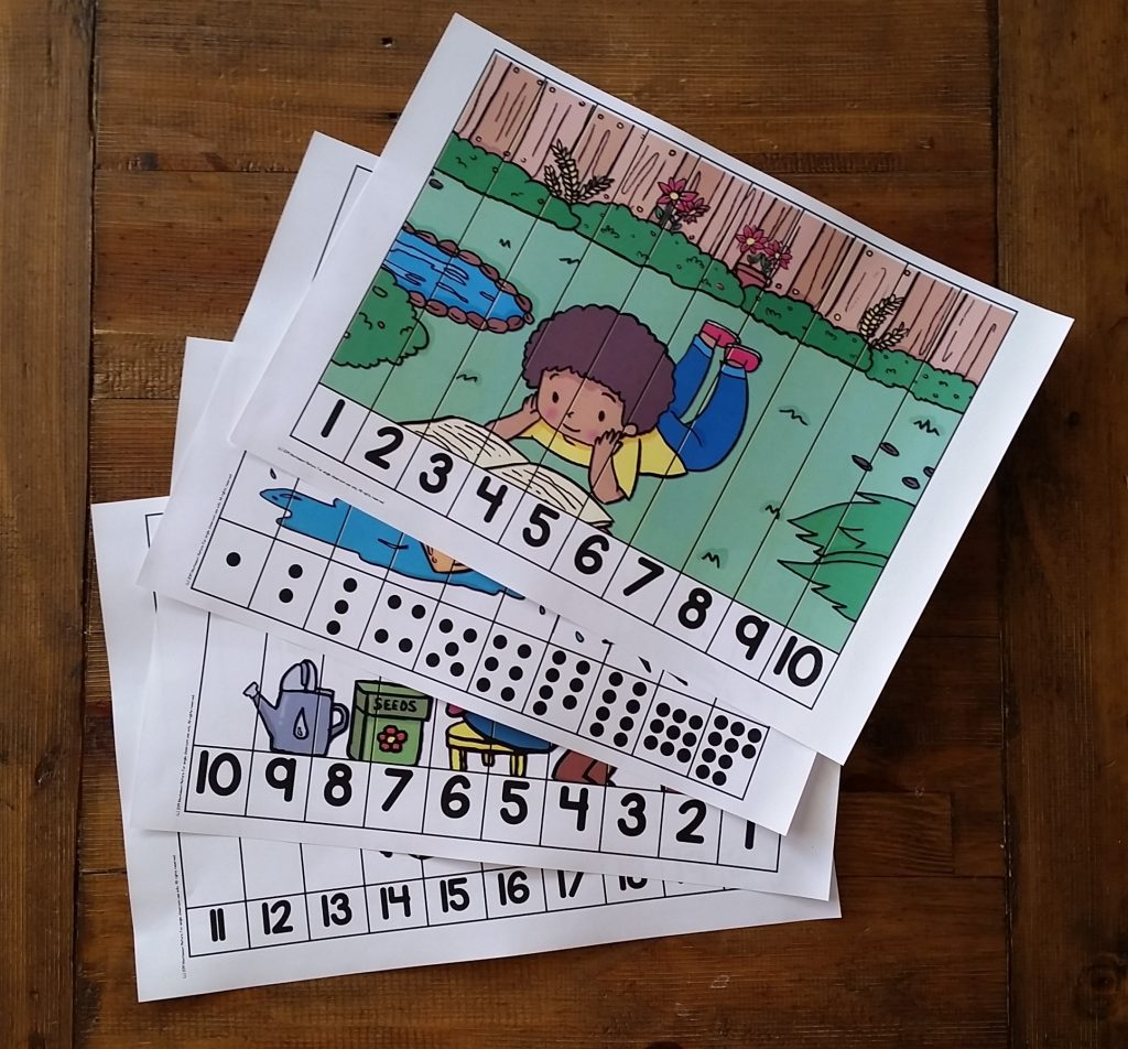Spring themed number puzzles