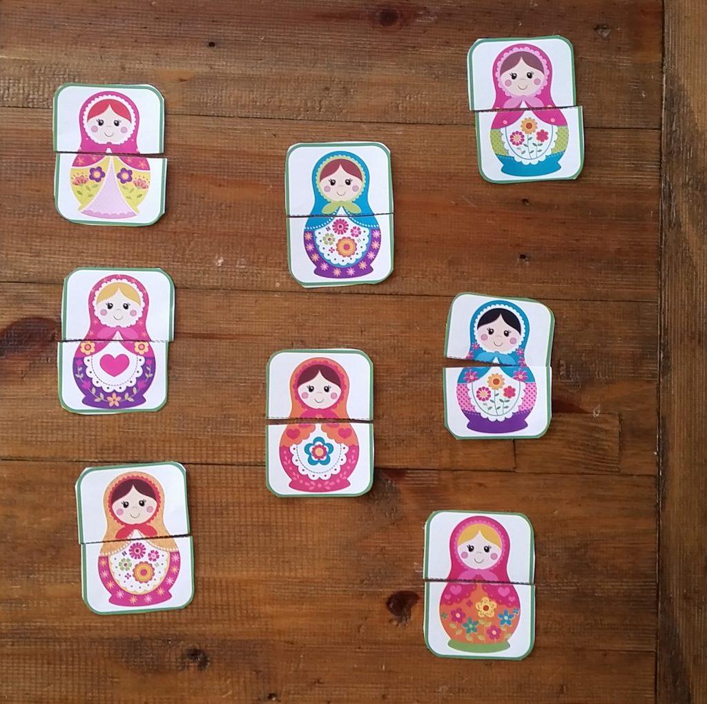 Matching matryoshka doll halves